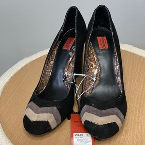 NWT Missoni for Target Suede Black Chunky Heels 8